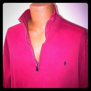 Ralph Lauren front zip sweater Red for power